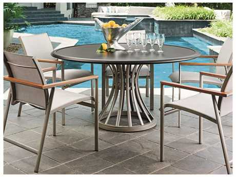 Tommy Bahama Outdoor Del Mar Cast Aluminum Casual Dining Set