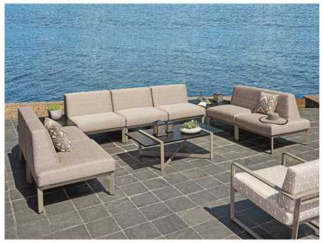 Tommy Bahama Outdoor Del Mar Cast Aluminum Conversation Lounge Set