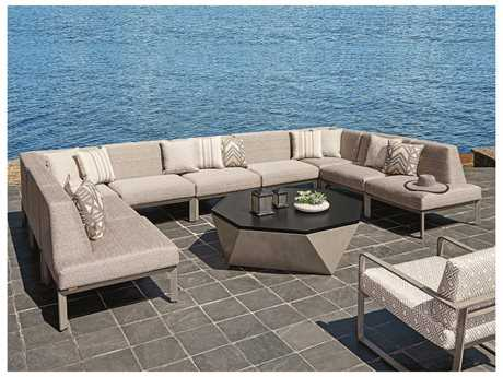 Tommy Bahama Outdoor Del Mar Cast Aluminum Sectional Patio Lounge Set