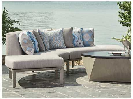 Tommy Bahama Outdoor Del Mar Cast Aluminum Sectional Lounge Set