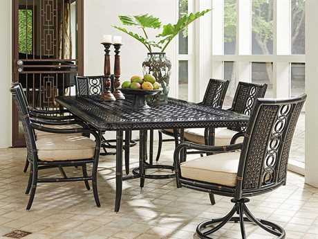 Tommy Bahama Outdoor Marimba Wicker Dining Set TRMRMBDIN6