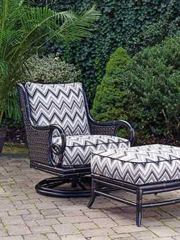 Tommy Bahama Outdoor Marimba Wicker Swivel Rocker Lounge Chair & Ottoman Set
