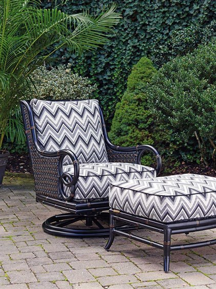 Swell Tommy Bahama Outdoor Marimba Wicker Swivel Rocker Lounge Chair Ottoman Set Pabps2019 Chair Design Images Pabps2019Com