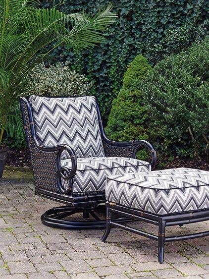 Wicker Swivel Rocker Lounge Chair