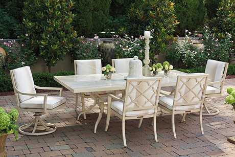Tommy Bahama Outdoor Misty Garden Cast Aluminum Rectangular Dining Table Base