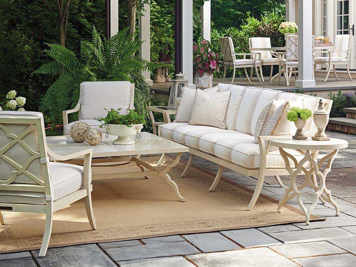 Tommy Bahama Outdoor Misty Garden Cast Aluminum Lounge Set