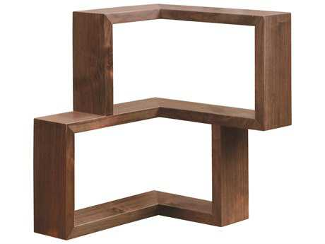 Tronk Design Frankiln Walnut Wall Shelf