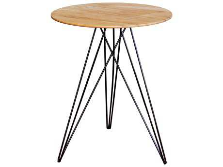 Tronk Design Hudson Maple & Black 18'' Round End Table