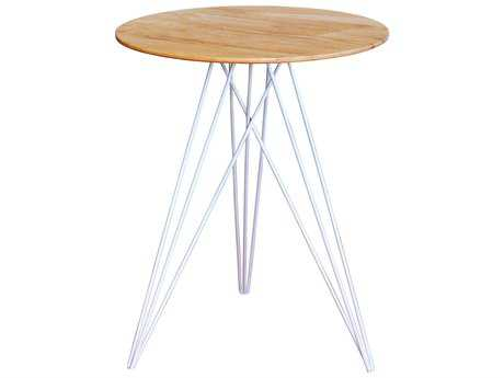 Tronk Design Hudson Maple & White 18'' Round End Table