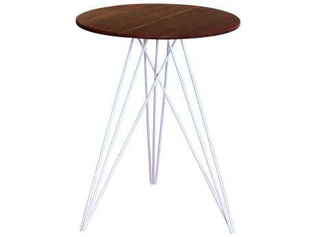 Tronk Design Hudson Walnut & White 18'' Round End Table