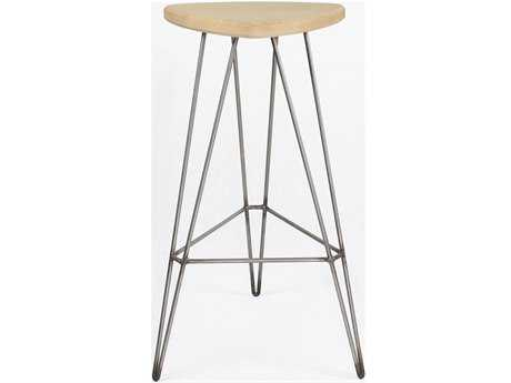 Tronk Design Madison Maple & Stainless Steel Bar Stool