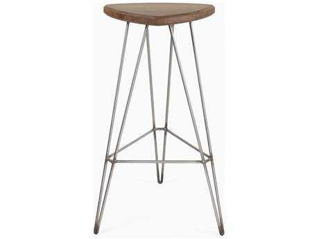 Tronk Design Madison Walnut & Stainless Steel Bar Stool
