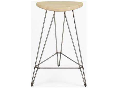 Tronk Design Madison Maple & Stainless Steel Counter Stool