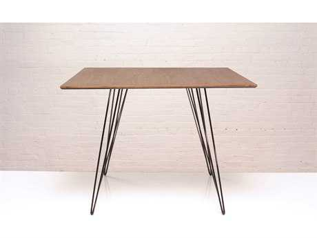 Tronk Design Williams Walnut & Black 40'' Square Dining Table