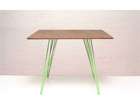 Tronk Design Williams Walnut & Green 40'' Square Dining Table