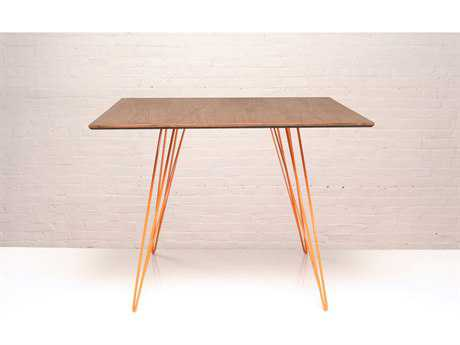Tronk Design Williams Walnut & Orange 40'' Square Dining Table