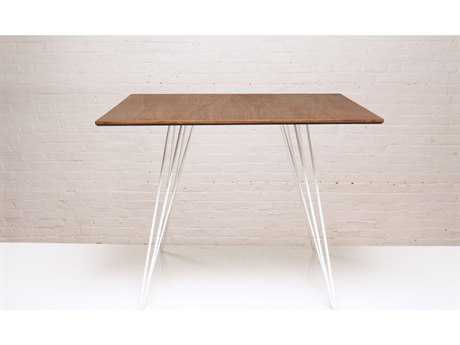 Tronk Design Williams Walnut & White 40'' Square Dining Table