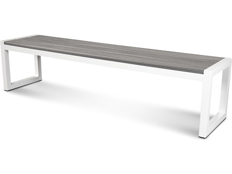 Trex® Outdoor Furniture Cube 72'' Bench in Satin White