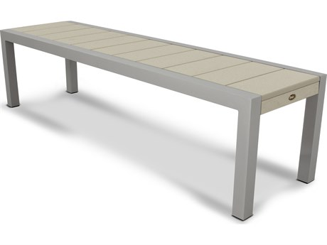 Trex® Outdoor Furniture Surf City 68'' Bench in Textured Silver / Sand Castle