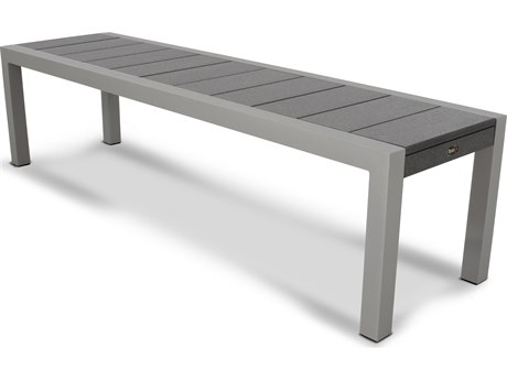 Trex® Outdoor Furniture Surf City 68'' Bench in Textured Silver / Stepping Stone