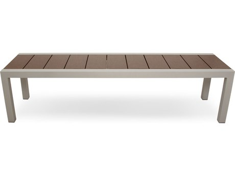 Trex® Outdoor Furniture Surf City 68'' Bench in Textured Silver / Vintage Lantern