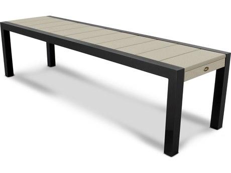 Trex® Outdoor Furniture Surf City 68'' Bench in Textured Black / Sand Castle