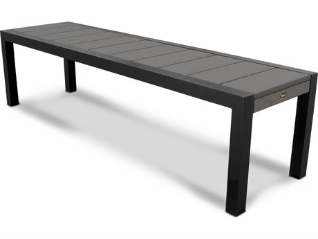 Trex® Outdoor Furniture Surf City 68'' Bench in Textured Black / Stepping Stone