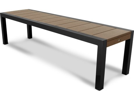 Trex® Outdoor Furniture Surf City 68'' Bench in Textured Black / Tree House