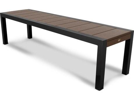 Trex® Outdoor Furniture Surf City 68'' Bench in Textured Black / Vintage Lantern