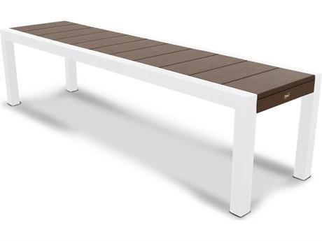 Trex® Outdoor Furniture Surf City 68'' Bench in Satin White / Vintage Lantern