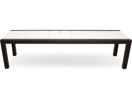Trex® Outdoor Furniture Surf City 68'' Bench in Textured Bronze / Classic White