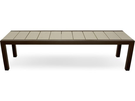 Trex® Outdoor Furniture Surf City 68'' Bench in Textured Bronze / Sand Castle
