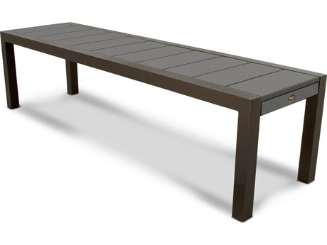 Trex® Outdoor Furniture Surf City 68'' Bench in Textured Bronze / Stepping Stone