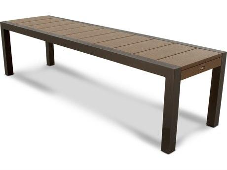 Trex® Outdoor Furniture Surf City 68'' Bench in Textured Bronze / Tree House