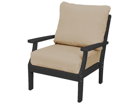 Trex Outdoor Furniture Yacht Club Deep Seating Lounge Chair in Charcoal Black / Cast Ash