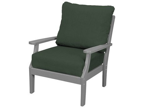 Trex Outdoor Furniture Yacht Club Deep Seating Lounge Chair in Stepping Stone / Cast Sage