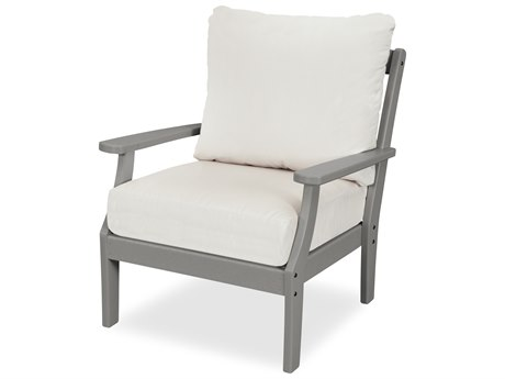 Trex Outdoor Furniture Yacht Club Deep Seating Lounge Chair in Stepping Stone / Bird's Eye