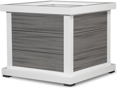 Trex® Outdoor Furniture Cube 24'' Planter 3 Board in Satin White