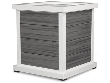 Trex® Outdoor Furniture Cube 24'' Planter 4 Board in Satin White