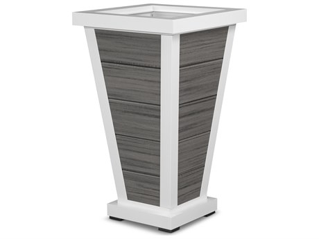 Trex® Outdoor Furniture Pyramid 18'' Planter 5 Board in Satin White