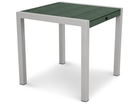 Trex® Outdoor Furniture Surf City 30'' Dining Table in Textured Silver