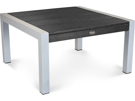 Trex® Outdoor Furniture Surf City 30'' Conversation Table in Textured Silver