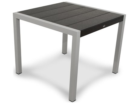 Trex® Outdoor Furniture Surf City 36'' Dining Table in Textured Silver