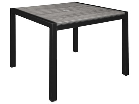 Trex Outdoor Furniture Harvest 39'' x 39'' Dining Table in Satin Black / Island Mist