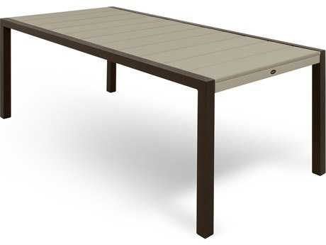 Trex® Surf City Recycled Plastic 73 x 36 Rectangular Dining Table TRXTX8310