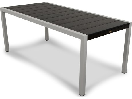 Trex® Outdoor Furniture Surf City 36'' x 73'' Dining Table in Textured Silver