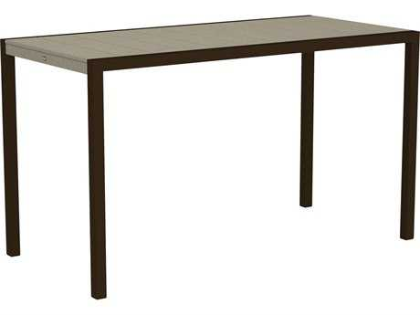 Trex® Surf City Recycled Plastic 73 x 36 Rectangular Bar Table TRXTX8312