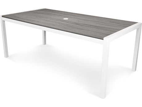 Trex® Outdoor Furniture Harvest 39'' x 78'' Dining Table in Satin White