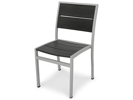 Trex® Outdoor Furniture Surf City Dining Side Chair in Textured Silver