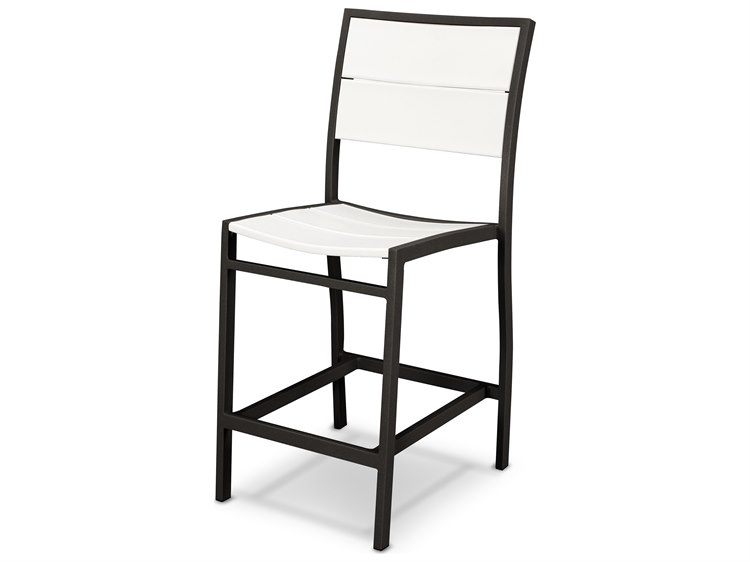 Trex Outdoor Furniture Surf City Counter Side Chair In Textured